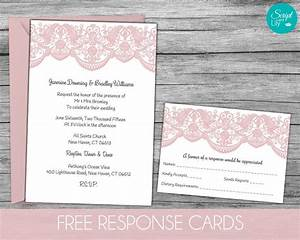 lace wedding invitation template free response card With edit photo wedding invitations
