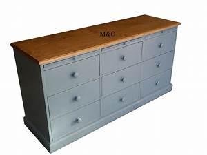 Meuble Bois Brut : meuble de metiers 9 tiroirs ~ Teatrodelosmanantiales.com Idées de Décoration