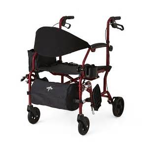 300 Lb Capacity Rollator Transport Chair Combo by Combination Rollator Transport Chair Medline