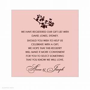 bridal shower gift registry insert wording google search With wedding invitation wording re gifts