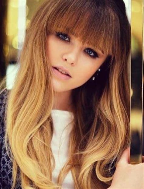 cute inspiration hairstyles  bangs  long