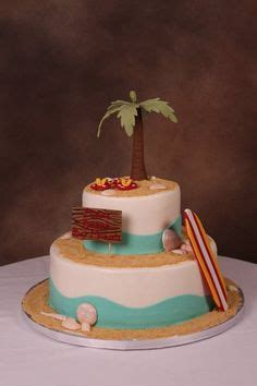 1000+ Images About Beach Theme Cake Ideas On Pinterest