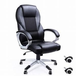 Fauteille De Bureau : songmics fauteuil de bureau noir pour ordinateur ~ Teatrodelosmanantiales.com Idées de Décoration