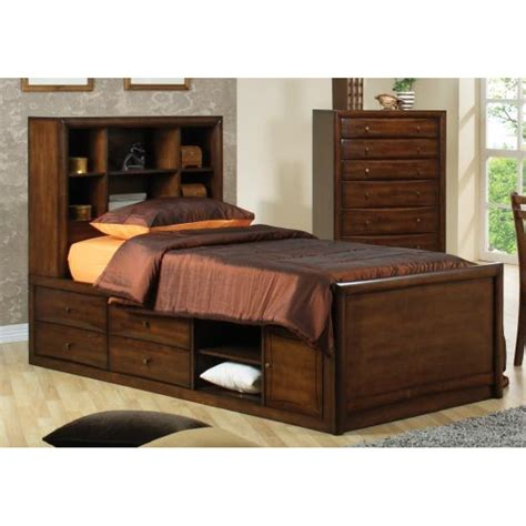 twin bookcase storage bed scottsdale full bookcase bed with underbed storage