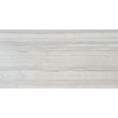 ms international white 12 in x 24 in glazed