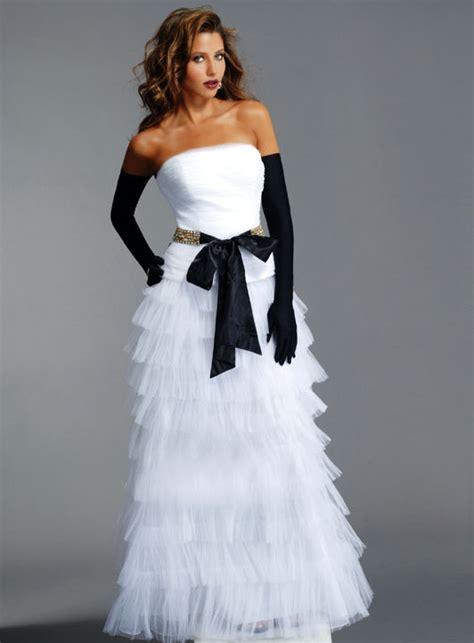one stop wedding black and white wedding dress