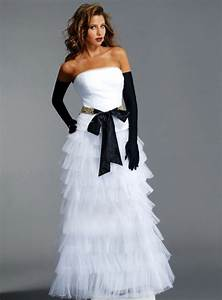 One stop wedding black and white wedding dress for Black white wedding dresses