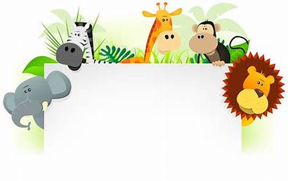 Animals Cartoon Wild Jungle Letterhead Zoo Clipart