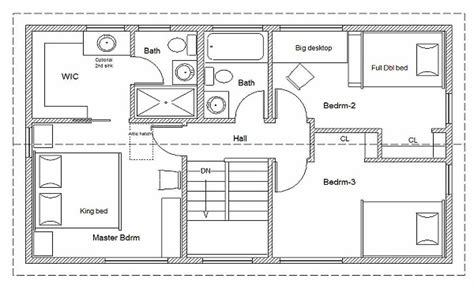 free blueprints for houses 2 bedroom house simple plan simple house floor plan