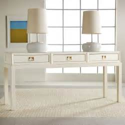 Modern White Console Table with Drawers