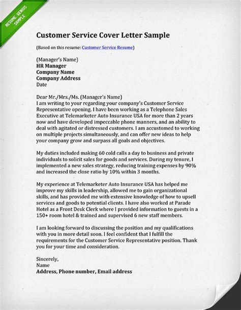 The Resume Center Customer Reviews by Sle Cover Letter For Customer Service Call Center