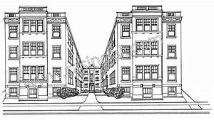 High quality images for apartment building coloring pages modern ...