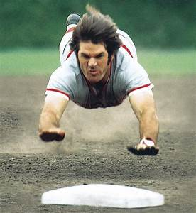 PETE ROSE CINCINNATI REDS MLB BASEBALL 8X10 PHOTO DIVE | eBay