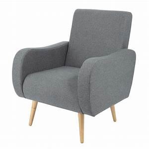 Tissu Gris Chiné : fauteuil vintage en tissu gris chin waves maisons du monde ~ Teatrodelosmanantiales.com Idées de Décoration
