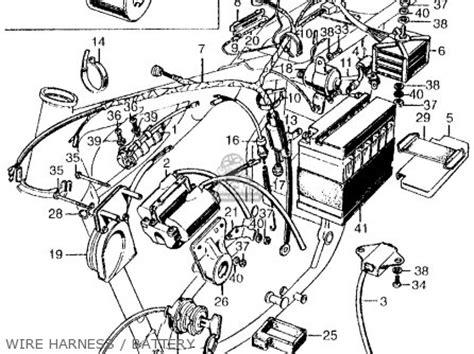 1974 Honda Cb450 Wiring Diagram by Honda Cb450 Sport 450 K2 1969 Usa Parts List