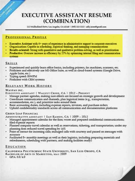 Create A Resume Profile  Steps, Tips & Examples Resume