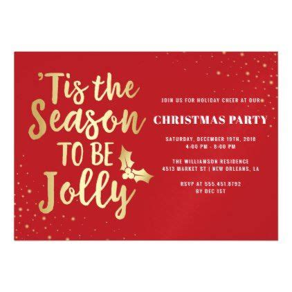 Gold 'Tis The Season To Be Jolly Christmas Party