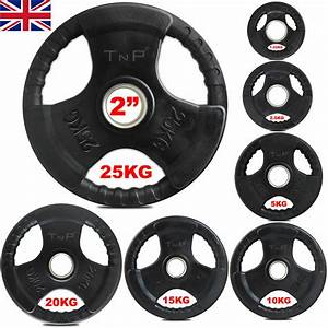 Olympic Rubber Cast Iron Weight Plates Sets Weights Set 2 U0026quot  Trigrip Disc Plate