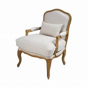 Fauteuil Suspendu Maison Du Monde : fauteuil en coton cru et ch ne ch teau maisons du monde ~ Premium-room.com Idées de Décoration