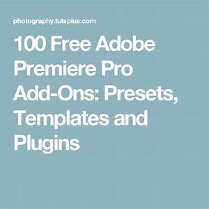 Best 25 adobe premiere pro ideas on pinterest new photo editing software premier definition for Adobe premiere add ons