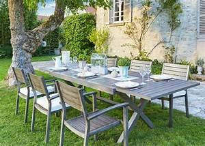 Table Et Chaise De Jardin En Bois : salle manger de jardin notre s lection marie claire maison ~ Teatrodelosmanantiales.com Idées de Décoration