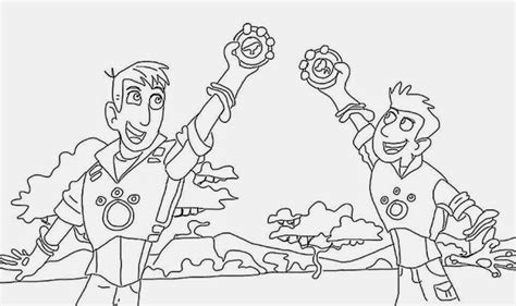 wild kratts coloring pages   print