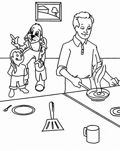 Coloring Cooking Kitchen Father Omelette Dragon Komodo