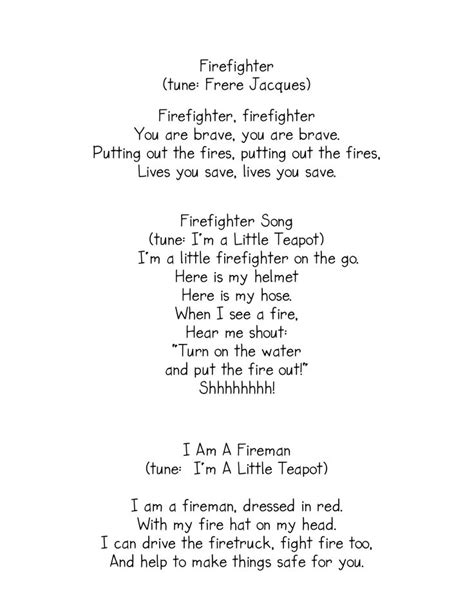 best 25 fireman song ideas on safety 949 | b47666a9101f4f70a742a2cf3f2b67f3 preschool fire safety fire fighter preschool