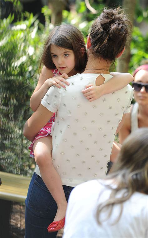 Katie And Suri Enjoy A Day At The Zoo  Zimbio