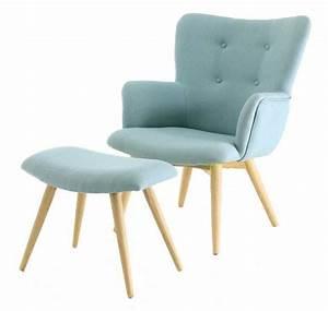 Fauteuil Repose Pied : fauteuil avec repose pieds stockholm bleu vert ~ Teatrodelosmanantiales.com Idées de Décoration