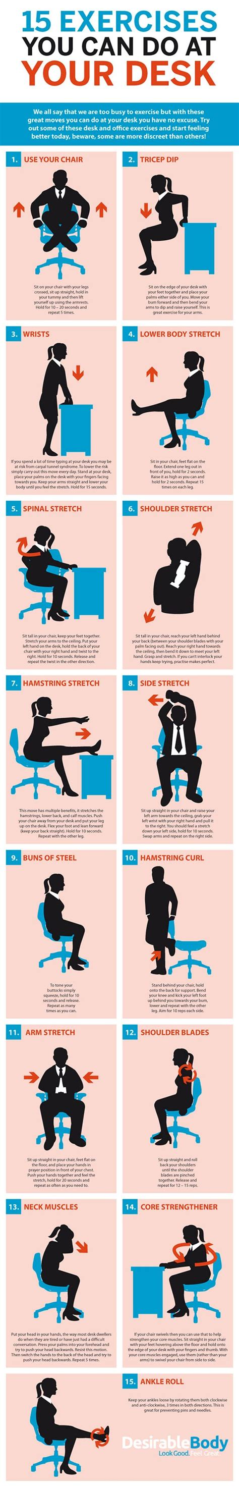 workout at your desk 15 exercises you can do at your desk