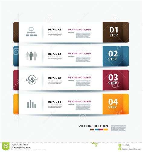 step by step template business step paper and numbers design template royalty free stock photo image 31641165