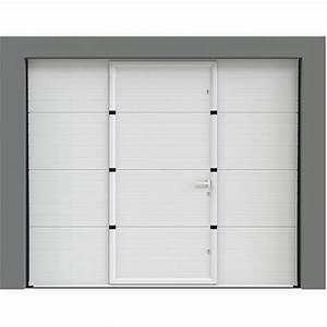 Porte Garage Sectionnelle Avec Portillon : porte de garage sectionnelle avec portillon porte ~ Melissatoandfro.com Idées de Décoration