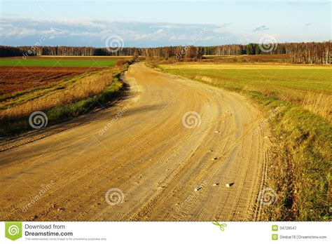 Dirt Road On Autumn Background Royalty Free Stock