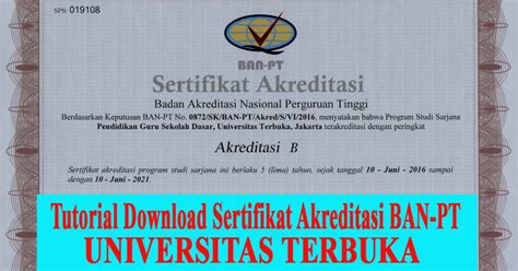 Surat Akreditasi Ban Pt Untuk Cpns by Tutorial Sertifikat Akreditasi Ban Pt Universitas