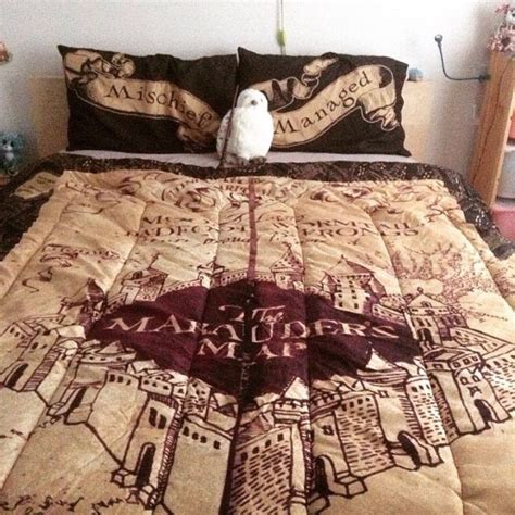 marauders map bedspread i need this so badly harry