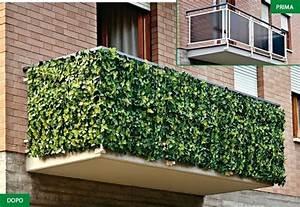 Siepe artificiale per balconi