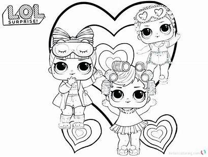 Lol Doll Dolls Coloring Pages Printable Paper
