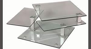 Table Basse Carrée En Verre : tables basses le geant du meuble ~ Teatrodelosmanantiales.com Idées de Décoration