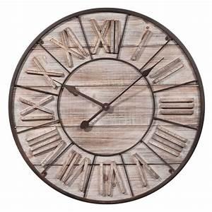 Horloge Murale Maison Du Monde : horloge en bois d 60 cm toscana maisons du monde ~ Teatrodelosmanantiales.com Idées de Décoration