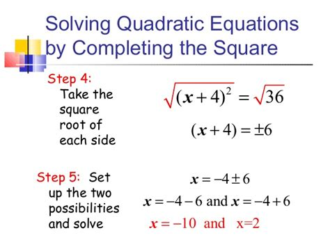 164 Solving Quadratics By Completing The Square