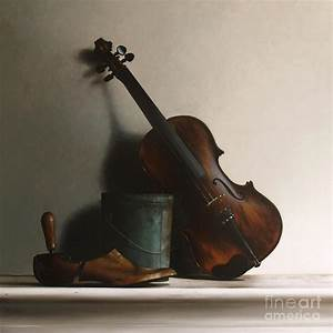 The Violin Painting by Larry Preston