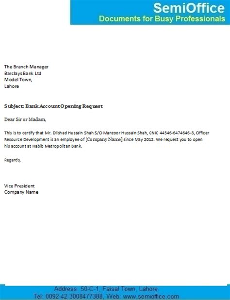 sample application letter bank branch change