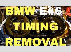 BMW e46 M52TU,M54 timing chain and head bolts removal