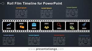 Roll Film Timeline For Powerpoint