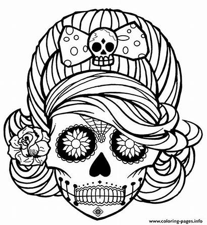 Coloring Pages Adult Halloween Skull