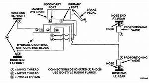 Brake Line Diagram For The Brake Lines Going Into The Abm