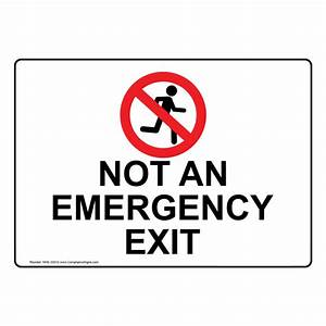 Construction Site Sign In Sheet Not An Emergency Exit Sign With Symbol Nhe 33312