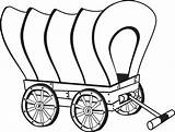 Wagon Coloring Wagons Stagecoach Wheel Wooden Template Pencil Covered Chuck Drawing Pioneer Sketch Templates Preschool sketch template