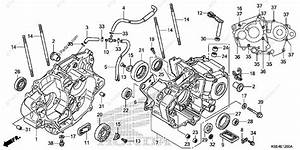 Honda Motorcycle 2007 Oem Parts Diagram For Crankcase